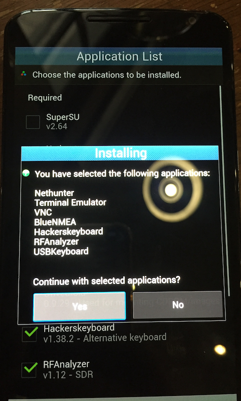nethunter application list