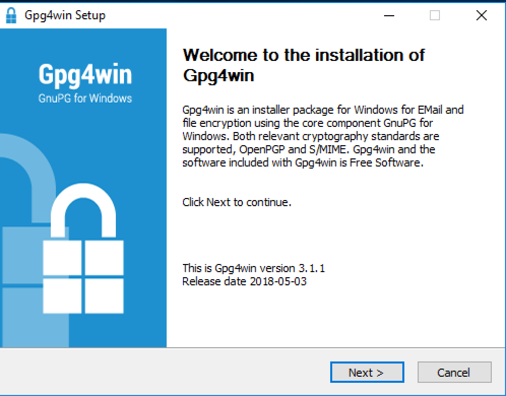 install gpg